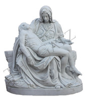 Hand Carved Marble Pieta Statue, Religious Church Statue