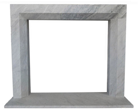 Contemporary Marble Fireplace Mantel, Simple & Clean Design