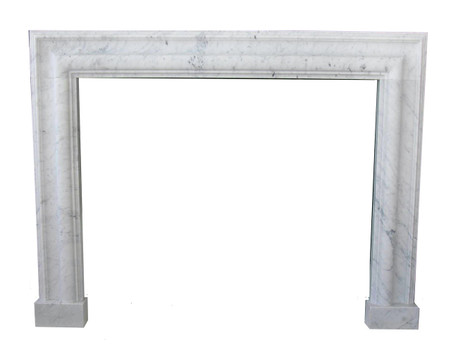 Contemporary Bolection Marble Fireplace Mantel