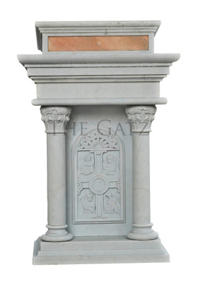 Marble Four Evangelist Gothic Ambo, Church, Religious Furnishings