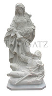 Hand Carved Marble Statue of St. Elizabeth of Hungary