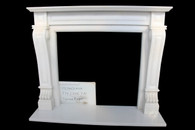 Italian Regal Design Hard Carved Marble Fireplace Mantel