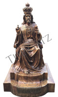 Impressive Bronze Christ the King Statue - Nice Church Religious Statue