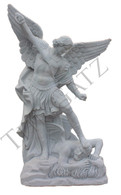 Hand Carved Marble Statue of St. Michael, Religious - Church Statue