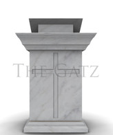 Marble Church Ambo Podium with Cross,  Religious