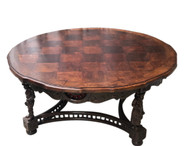 Terrific French Breton Coffee Table, Round, 1900's, Oak