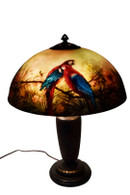 Jungle Bird Parrot Lamp Handel, Good condition, Vivid Colors