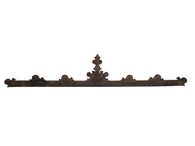 French Gothic Walnut Architectural Crown  9 Feet Wide
