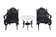 Set of Two Cast Iron  Chairs -4 Season Design, Winter & Summer,