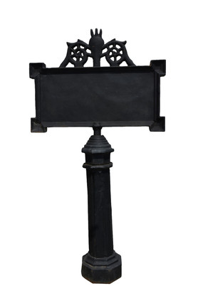 Cast Iron Street Sign, House Marker, Message Board, Directional Sign