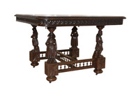 French Breton Dining Table, Oak, Turn of Century, Antique