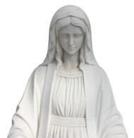 Marble Religious Statue of Our Lady of Grace 48 Inches High