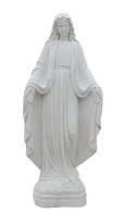 Hand Carved Marble Religious Statue of Our Lady of Grace