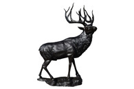 Enormous Bronze Elk Garden Statue,  Yard Decor