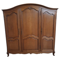 Antique French Oak Armoire, 1920's, Clean Lines, Storage