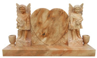 Marble Tombstone with Angels Special Design, Religious