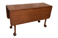 Vintage Chippendale Drop Leaf Table, Walnut, 1940's