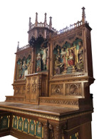 Phenomenal 19th Century Church Altar, Large,  Oak, Statues