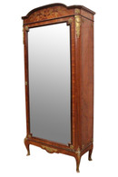 Antique Armoire, French Napoleon III, 19th Century, Walnut, Mirrored