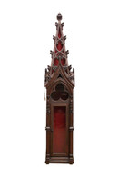 Tall Architectural Element Converted to Gothic Cabinet, Architectural , Church Display 100 Inches Tall
