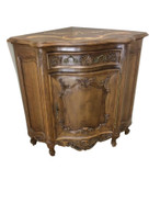 Corner Cabinet,  Charming Antique French Corner Cabinet, 1920's Walnut