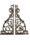 Architectural Corbels- RARE Victorian Cast Iron Corbels,  19th Century,  Matching Pair, Brackets