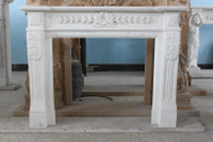 CLASSIC, COLONIAL OR ROMAN STYLE MARBLE FIREPLACE MANTEL