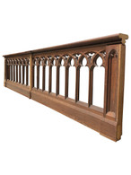Antique French Gothic Church Altar Railing Over 18 Feet Long, Religious, Turn of Century