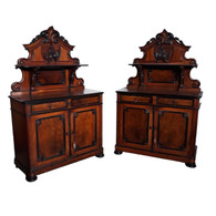 BEAUTIFUL  Antique French Louis Philippe Server Sideboard, Mahogany, 19th Century