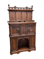Top Quality French Gothic Cabinet , Best in Carvings, Walnut, 19th Century