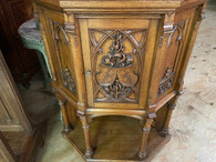 SOLD Fantastic French Gothic Corner Cabinet, 19th Century, Medieval, Oak, Rare