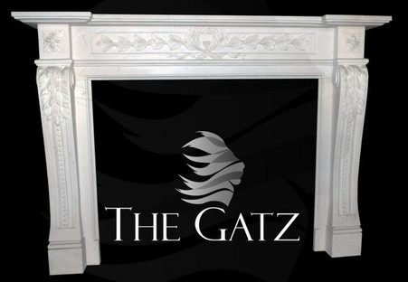 LOVELY HAND CARVED MARBLE FIREPLACE MANTEL