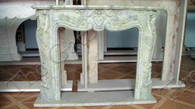 CHARMING FRENCH ROCOCO INSPIRED MARBLE FIREPLACE MANTEL