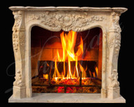 ELEGANT LOUIS XVI INSPIRED CLASSIC FRENCH STYLE MARBLE FIREPLACE MANTEL