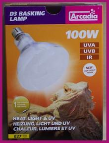 100 | Watt | Arcadia | Mercury | Vapor | D3 | Bulb |240 |Volt