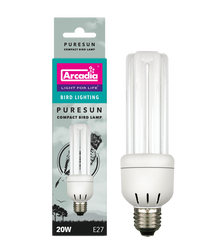 Arcadia 20w CFL PURESUN  Bird Bulb NEW 110v USA Model