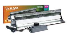 JUMBO Arcadia Power Compact 55 Watt 12% UV Flood Light Kit *WITH* Up-Converter