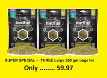 Arcadia EarthPro InsectFuel 250g Pro Size ---  3 PACK DEAL --- 59.97