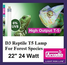 Arcadia D3 T-5 22 Inch 24 Watt *6% Forest UVB*