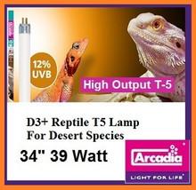 Arcadia D3+ T-5 34 Inch 39 Watt *12% Desert UVB*