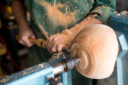 Turning the tenon for a bowl from Harvard Wood