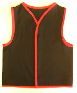 Custom Order Twill Patch Vest with Trim