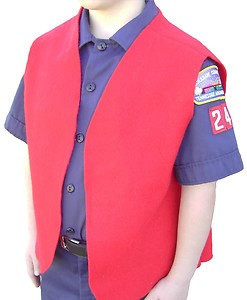 Felt Cub Scout Patch Vests