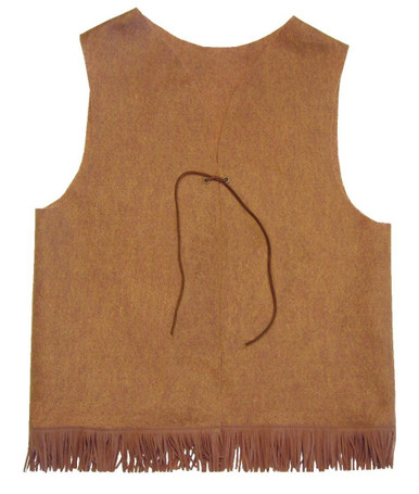 Felt Copper Vest with Fringe and Tie