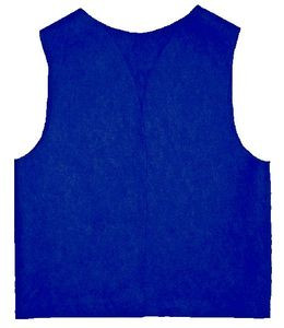 "Adult FELT Royal Blue Patch Vest with Yellow Lettering ""Moose"""