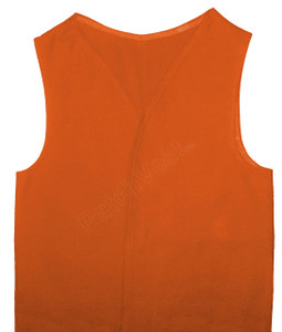 Orange Twill Patch Vest