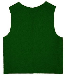 10 Large Youth Felt Kelly Green Patch Vest