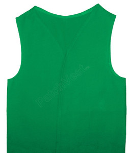 Medium Youth Green Twill Patch Vest