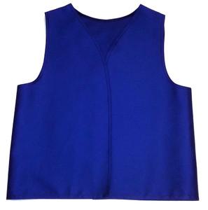 Royal Blue Twill Patch Vest