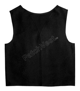 Black Twill Patch Vest